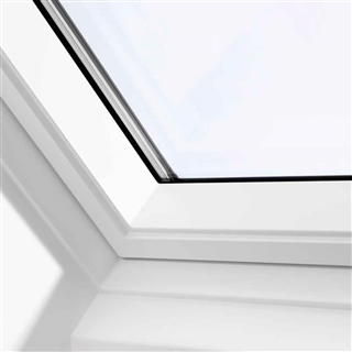 velux 940mm x 1400mm white poly finish top hung roof window 60 pane gpu pk08 0060r. Black Bedroom Furniture Sets. Home Design Ideas