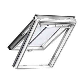 VELUX 780mm x 1400mm Conservation White Painted Finish Top Hung Roof Window with Plain Tile Flashing  GPL MK08 SD5P2