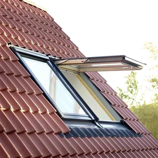 VELUX 780mm x 1400mm Conservation White Painted Finish Top Hung Roof Window with Recessed Tile Flashing  GPL MK08 SD5J2