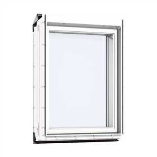 VELUX 780mm x 950mm White Poly Finish Vertical Roof Window --66 Pane  VIU MK35 0066