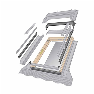 VELUX 550mm x 700mm Coupled Window Replacement Adaptor Flashing  ELX CK01 0000