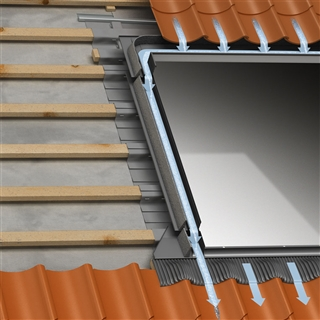 VELUX 550mm x 1180mm Single Window Tile Flashing with Insulation & Underfelt Collars  EDW CK06 2000