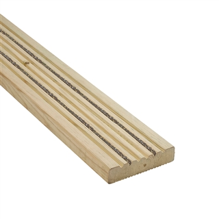 32mm x 125mm Enhanced Grip Decking Board Grooved FSC
