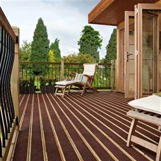 32mm x 125mm x 3.9m Walksure Decking Board Charcoal/Red PEFC