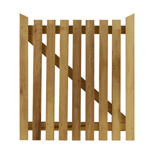 "Nailed Wicket Pedestrian Gate 3' x 3'5"" (90cm x 106cm) PEFC"