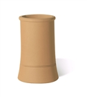 Terracotta Chimney Pot Plain Roll Top Buff 300mm
