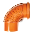 Polypipe Polyrib 110mm 87½° Single Socket Short Radius Swept Bend UR412