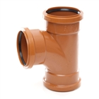 Polypipe Underground Drain 110mm 87½° Triple Socket Equal Junction UG423