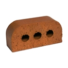 Special Shaped Bricks Smooth Red Double Bullnosed BN.2.2
