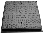 Manhole Cover & Frame Cast Iron MC1 60/60 600mm x 600mm A15 1.5 Tonne