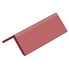 Angled Ridge Tiles Concrete 450mm Long Smooth Red