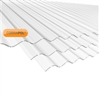 Corrapol Clear Corrugated Roofing Sheet 840mm x 2440mm AC20