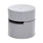 Polypipe Soil & Vent 110mm Air Admittance Polyvalve Grey SPV110