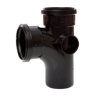 Polypipe Soil & Vent 110mm 92½° Single Branch Black ST401