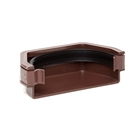 Polypipe Square Rainwater 112mm Gutter External Stop End Brown RS207