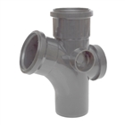 Polypipe Soil & Vent 110mm 92½° Single Branch Grey ST414