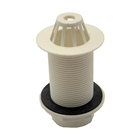 """1½"""" 86mm Tail Domed Plastic Urinal Waste White"""