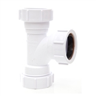 Polypipe Universal Compression Waste 40mm 91¼° Equal Tee White PS22