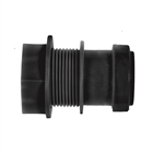 Polypipe Push-Fit Waste 40mm Tank Connector Black WP36