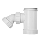 Polypipe Nuflo 40mm Shower Trap 50mm Seal White PST2
