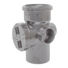 Polypipe Soil & Vent 110mm Single Socket Access Pipe Grey SA43