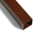Polypipe Square Rainwater 65mm Downpipe 2.5m Brown RS221