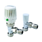 Honeywell Valencia 15mm Angled Thermostatic Radiator Valve and Lockshield (Twin Pack)
