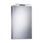Single Door Aluminium Cabinet with Overhead LED Lighting 515mm x 700mm x 140mm