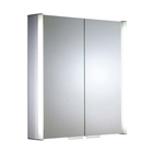 Double Door Aluminium Cabinet with Integrated Lighting 654mm x 700mm x 135mm