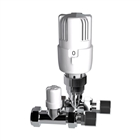 15mm Straight Thermostatic Radiator Valve White/Chrome (Twin Pack)