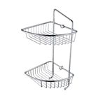 Bristan Two Tier Wall Fixed Wire Basket Chrome