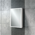 HiB Qubic 50 Single Door Cabinet with Charging Socket and LED Lighting 500mm x 700mm