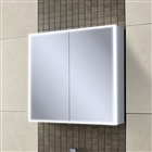HiB Qubic 80 Double Door Cabinet with Charging Socket and LED Lighting 800mm x 700mm